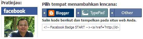 WP#3: Memasang Badge Profil Facebook di Wordpress. (3/4)