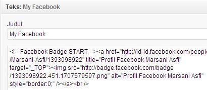 WP#3: Memasang Badge Profil Facebook di Wordpress. (4/4)